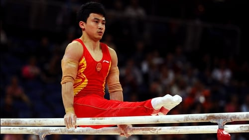 Feng Zhe produced a number of impressive somersaults