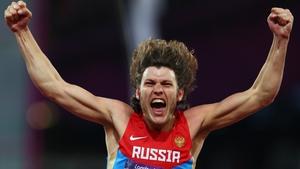 Ivan Ukhov celebrates victory