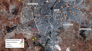The city of Aleppo has been under siege for more than three weeks