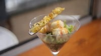 Warm Dublin Bay prawn salad with razor clam - Enjoy the taste of Skerries with Martin's surf recipe