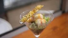 Warm Dublin Bay prawn salad with razor clam