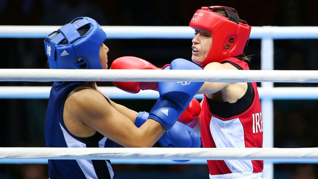 Katie Taylor gets to fight for gold after winning 17-9 at the ExCeL Arena today