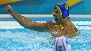 Nikola Janovic of Montenegro celebrates victory