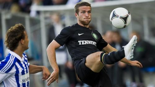 Celtic's Adam Matthews during this evening's match at Sonera Stadium in Helsinki