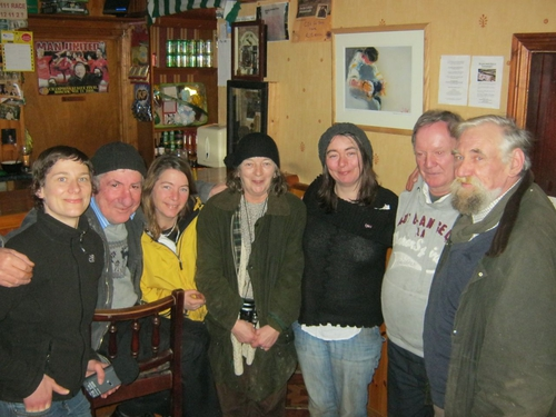 Comyns Family with locals in Kiltyclogher