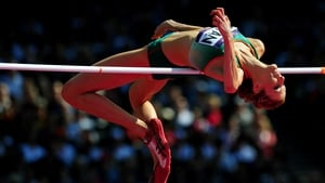 Deirdre Ryan competes in the women's high jump