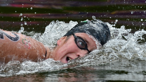 Eva Risztov has won marathon 10km swimming gold