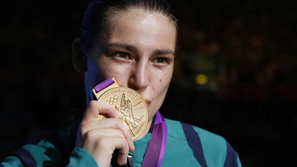 And then the dream was complete. Gold medal in hand. Olympic title in the history books. Katie Taylor we salute you