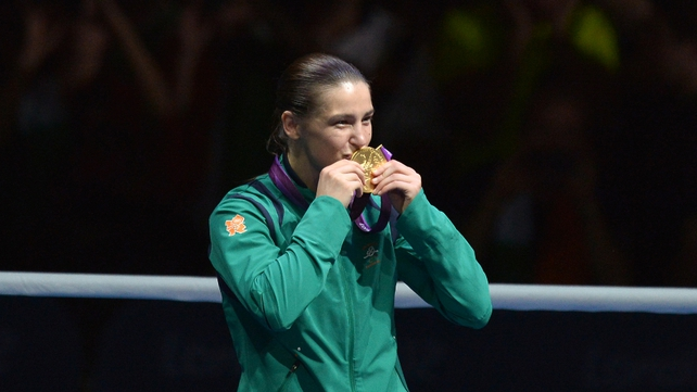 Taylor was presented with her medal in front of a capacity crowd at the ExCeL Arena