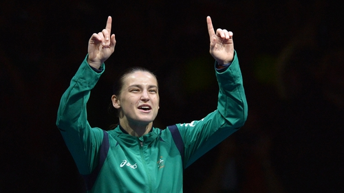 Katie Taylor will arrive home with the Irish team on Monday