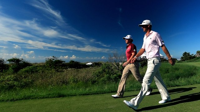 Rory McIlroy and Dustin Johnson were amongst the early starters at Kiawah Island