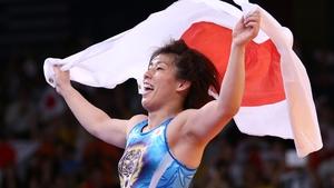 Saori Yoshida celebrates her triumph