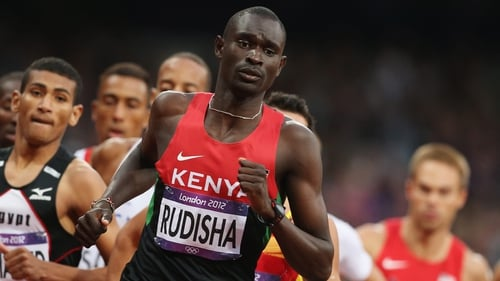 Rudisha set a new 800m record at last summer's Olympic games