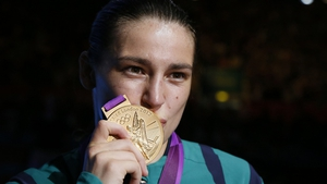 Katie Taylor won gold in London yesterday