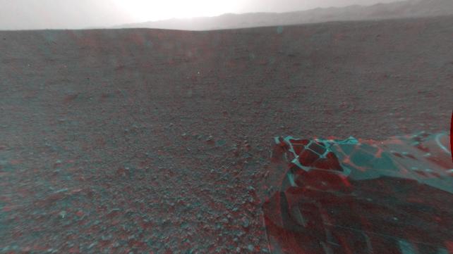 A 3D view behind NASA's Curiosity rover
