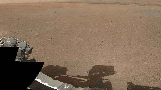 Part of the panoramic mosaic of images sent back from Curiosity