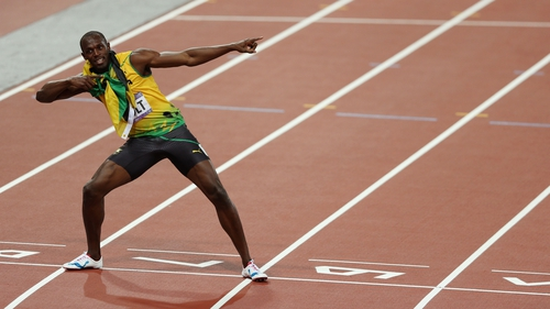 Usain Bolt holds the world record for the 100m and 200m