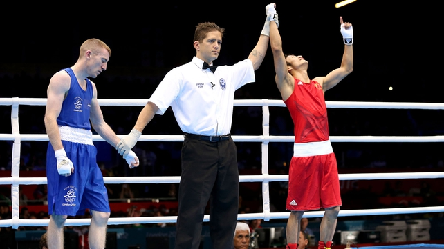 Paddy Barnes finished level with Zou Shiming but lost on a countback