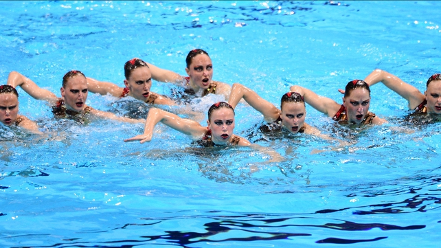 Russia continued their dominance of synchronised swimming