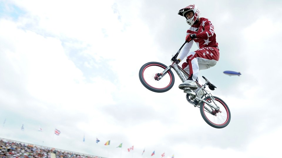 Latvia's Maris Strombergs retained the men's BMX Olympic gold medal