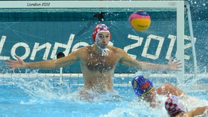 Croatia's Josip Pavic attempts to stop the ball