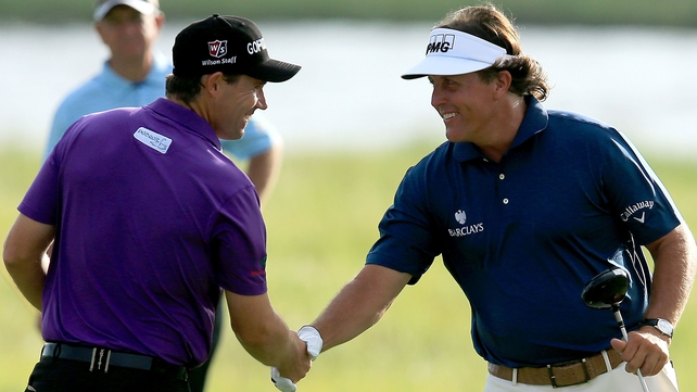 Padraig Harrington and Phil Mickelson played the opening two rounds together at Kiawah Island
