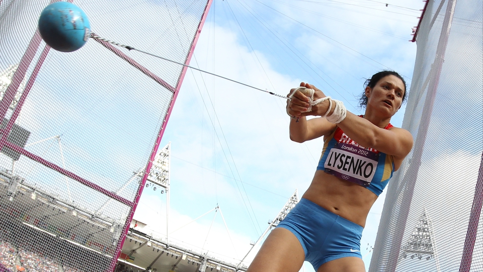 It wasn't all boxing - Russia's Tatyana Lysenko claimed gold in the women's hammer throw