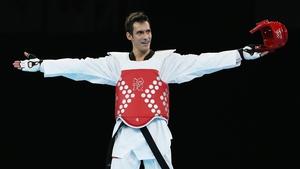 Sebastian Eduardo Crismanich soaks up the acclaim after claiming the gold medal