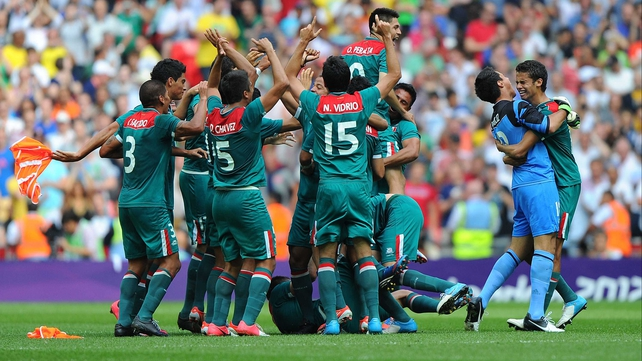 Mexico were 2-1 winners over Brazil in Saturday's Men's Soccer final