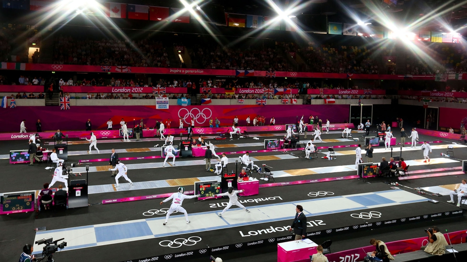 The Fencing event in the men's modern pentathlon