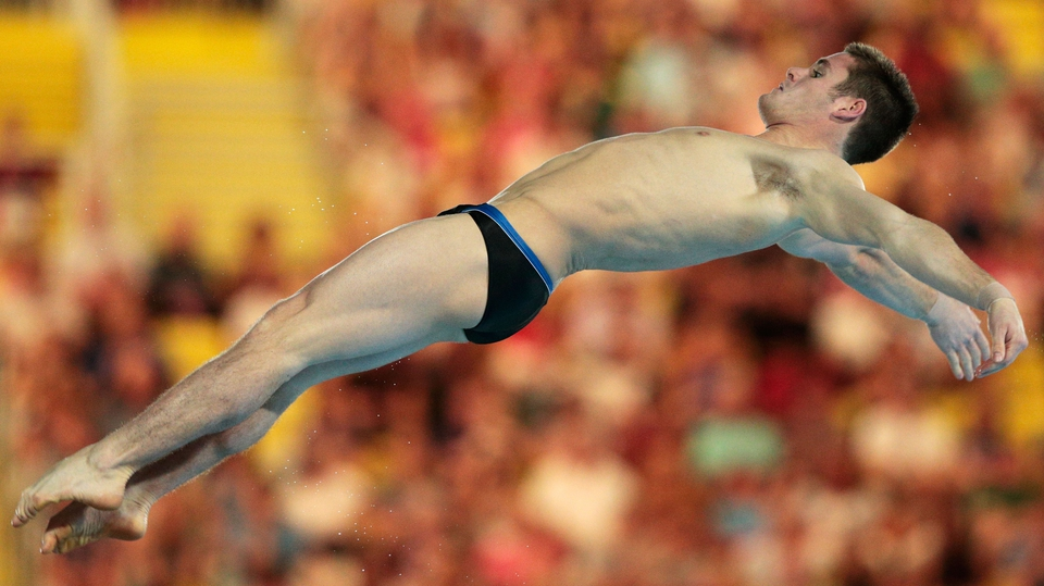 David Boudia took gold in the 10 metre platform event in the men's diving competition