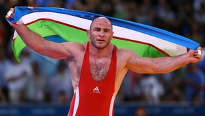 Artur Taymazov earned his third successive gold medal in the men's 120kg division