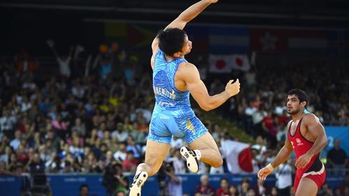 Tatsuhiro Yonemitsu jumps for joy