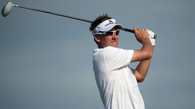 Ian Poulter hit 64 to lead going into the final round in Melbourne