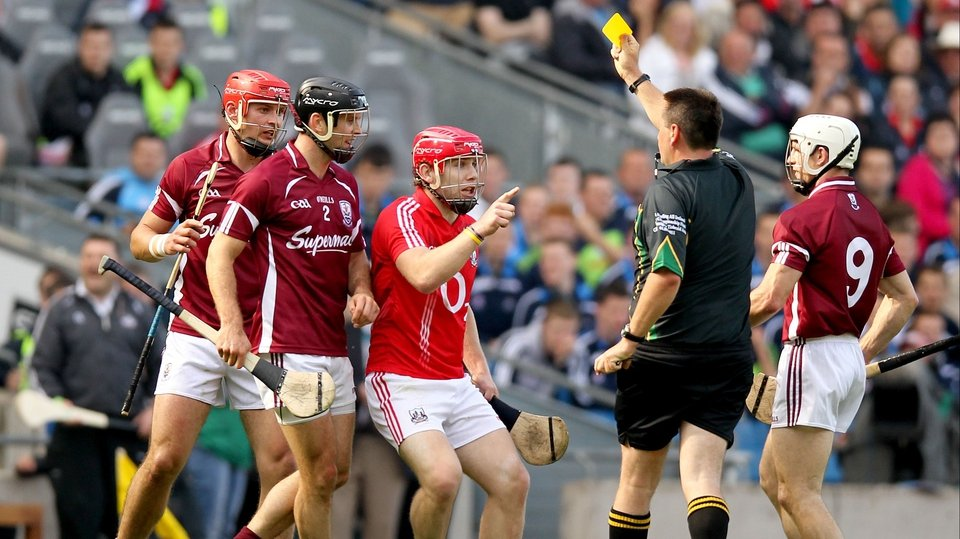 Cork's Paudie O'Sullivan yellow-carded late on by referee Brian Gavin. It was the only booking of the game