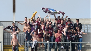 Galway supporters celebrated on Hill 16 as they looked forward to their first All-Ireland final appearance since 2005