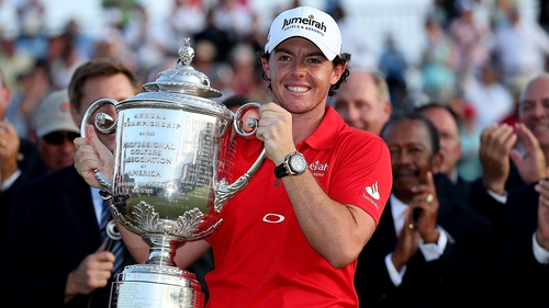 Rory McIlroy finished off the PGA Championship in style, shooting a six under 66 to win by eight shots