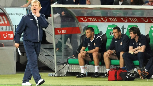 Pat's manager Liam Buckley