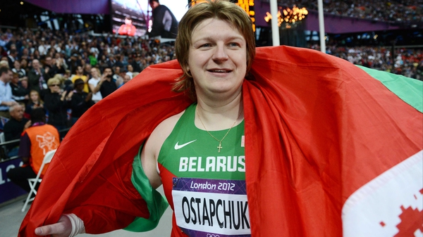 Belarus' Nadezhda Ostapchuk has failed a doping test, the IOC have confirmed