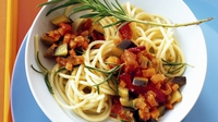 Gluten-free pasta Provencal - This gluten-free recipe is perfect as a quick, healthy meal for after school or work.