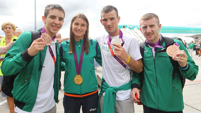 The Irish boxing medal winners