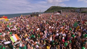 An estimated 20,000 people turned up to welcome home Ireland's gold-medal winner