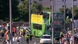 And saw an open-top bus pull in to Bray with Ireland's hero aboard