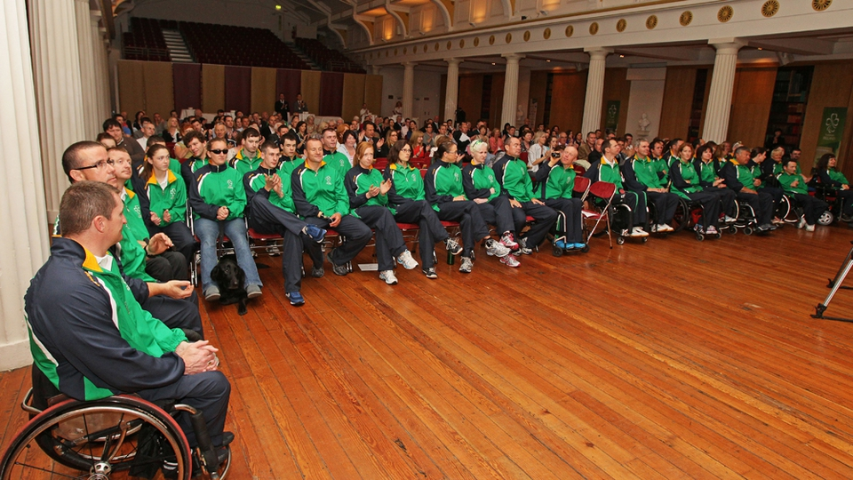 Members of Ireland's Paralympic team pictured before departure to London