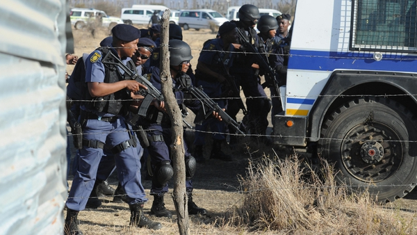 Clashes with police left 34 miners dead