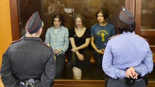 Pussy Riot members were sentenced to two years in jail