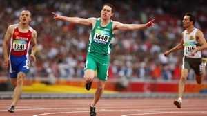 Jason Smyth won Gold in the Men's 100 m - T13 and Men's 200 m - T13