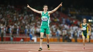 Michael McKillop won Gold in the Men's 800 m - T37