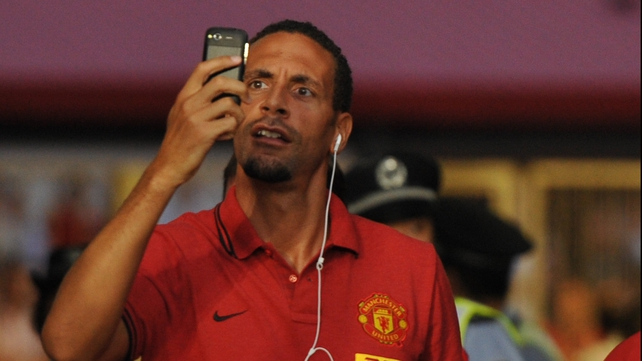 Rio Ferdinand's Twitter activity was deemed 'improper'