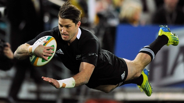 Cory Jane scored New Zealand's second try in their 27-19 victory over Australia